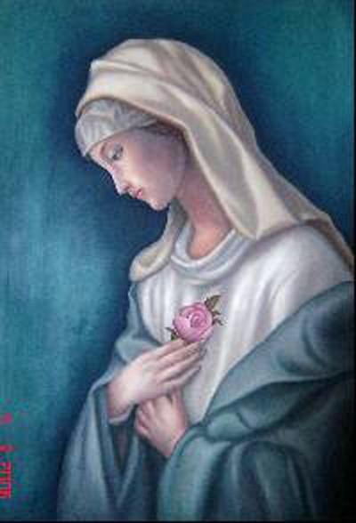 la virgen de la rosa mistica