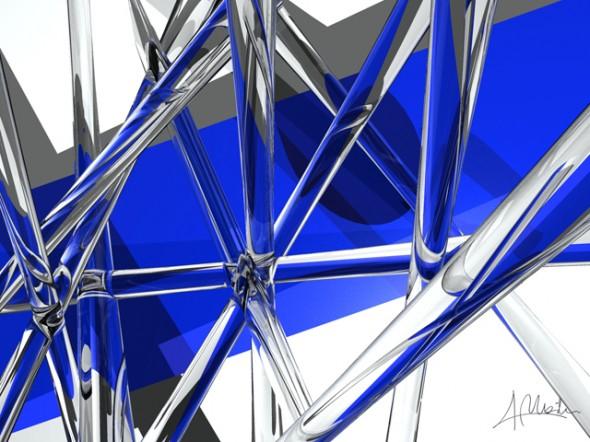 Composición Azul y Cristal
