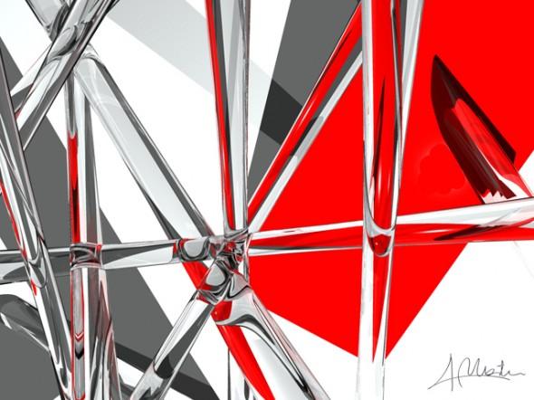Composicion Rojo y Cristal