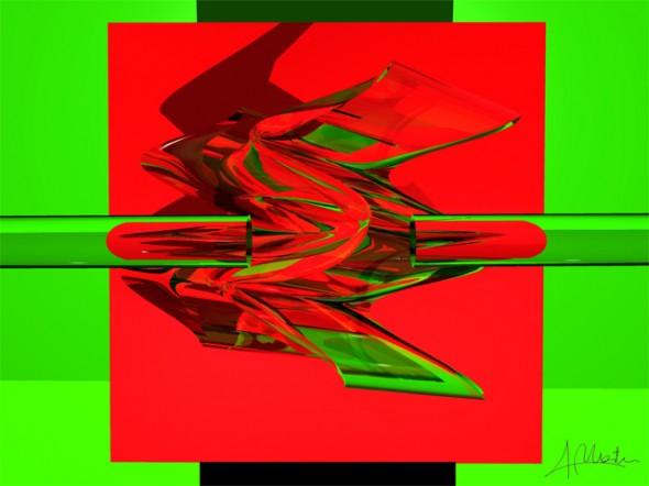 Combinación de colores en Verde y Rojo