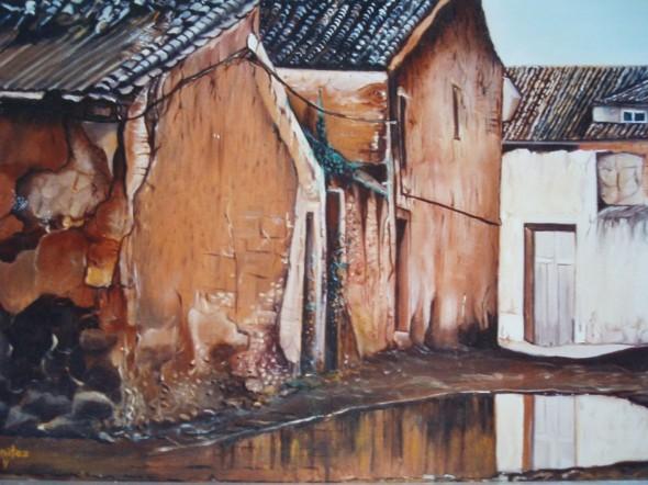 callejón en ruínas