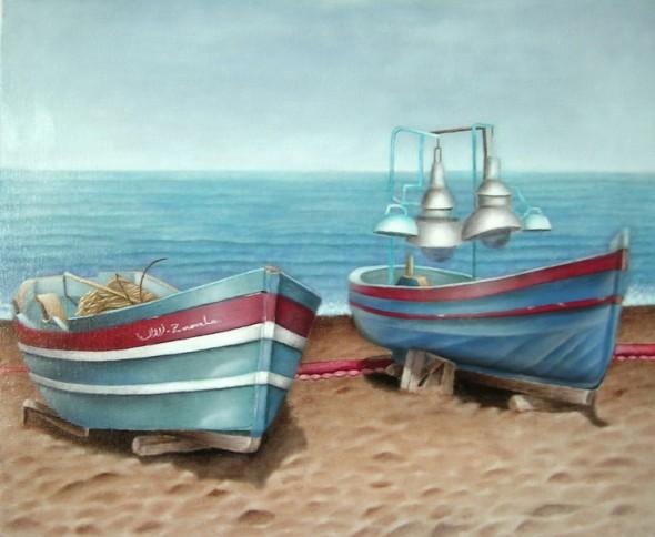 Los barcos de pesca