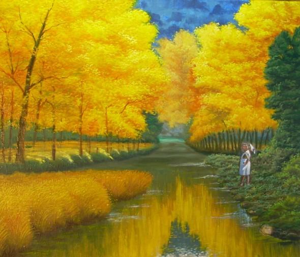 niña y el rio 02