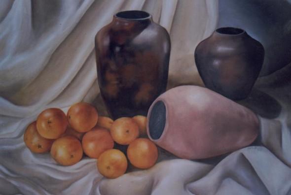 Bodegón con naranjas
