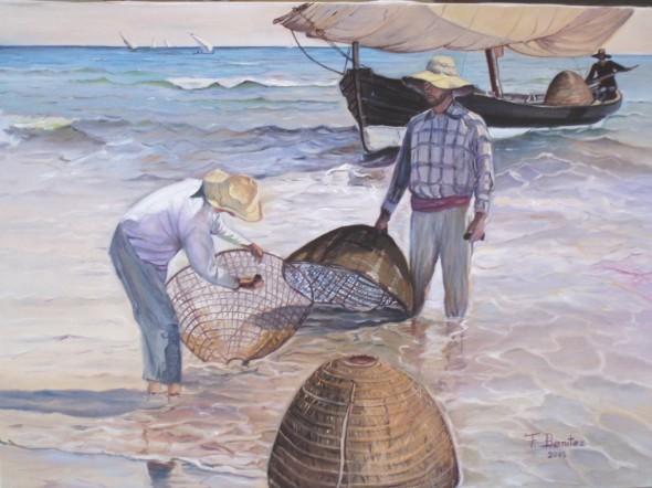 Obra de arte pescadores valencianos copia de sorolla - Galeria de arte sorolla ...