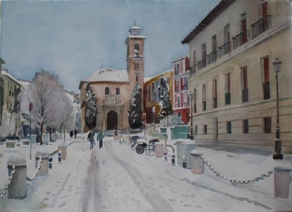 Plaza Nueva nevada, Granada