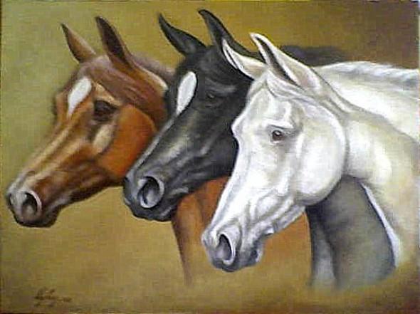 Obra de arte: cabezas de caballos Artistas y arte. Artistas de la ...