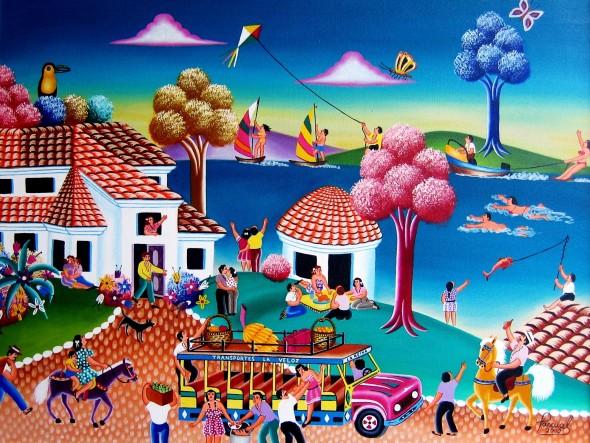Las Libretas De Dibujo De 10 Artistas Colombianos: Obra De Arte: Paseo Por Guatavita (Colombia) Artistas Y