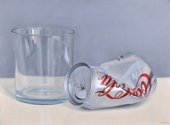 Glass and coke light
