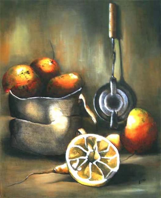 Bodegon con mangos II