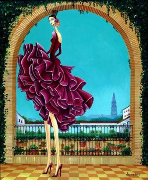 Obra de arte patio andaluz artistas y arte artistas de for Pinterest obras de arte