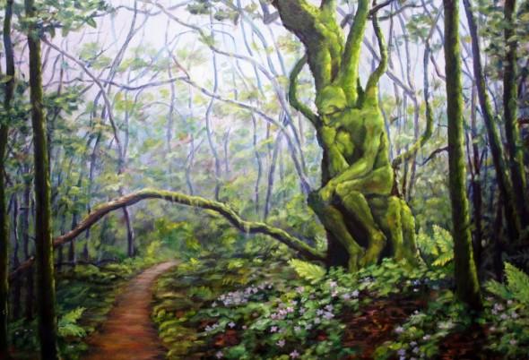 El pensador del bosque