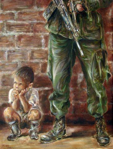 Niño en medio al conflicto