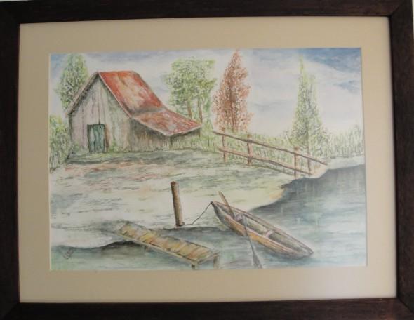 Casa a la orilla del rio