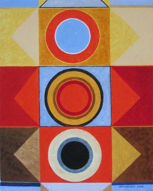 Tres uno : : pintura abstracta