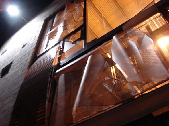 parasol-composición / vista de noche