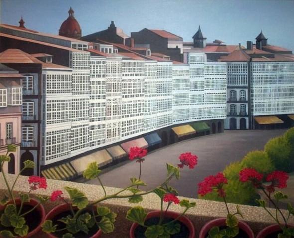 Obra De Arte Terraza Imaginaria Con Flores5 Galerias De La Marina En A Coruña Artistas Y Arte Artistas De La Tierra