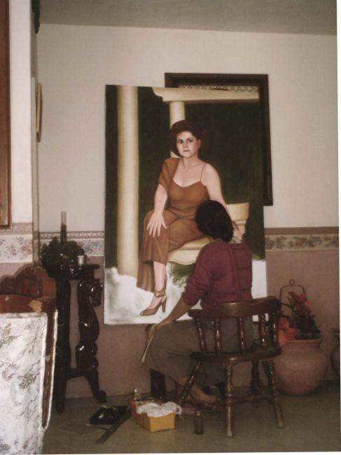 pintando a la tia drucy