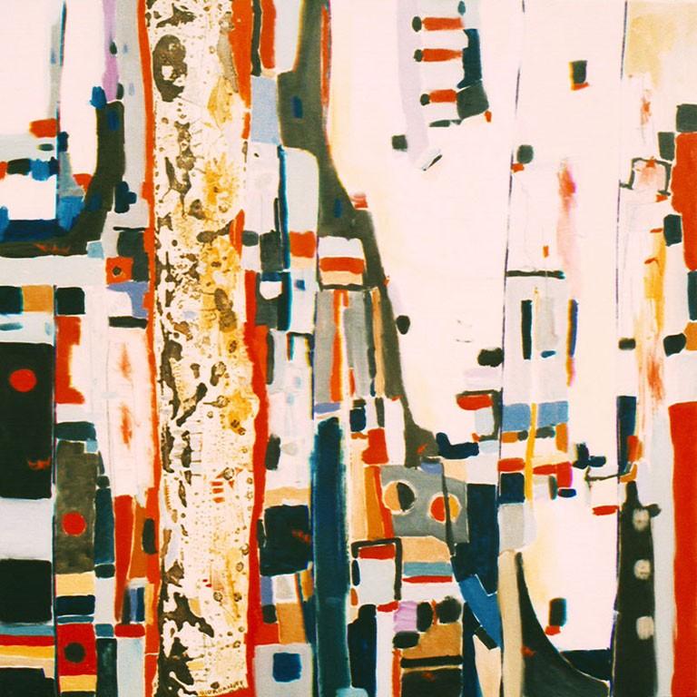 Obra De Arte Ligeramente Cuadro Abstracto Artistas Y Arte