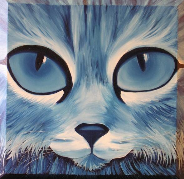 el gato triste azul: