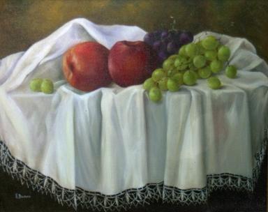 Manzanas y uvas