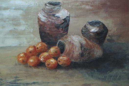Bodegón con naranjas II