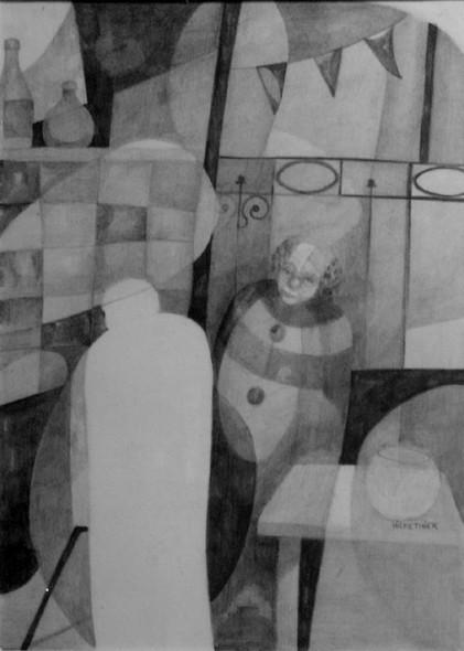 Payaso con fantasma