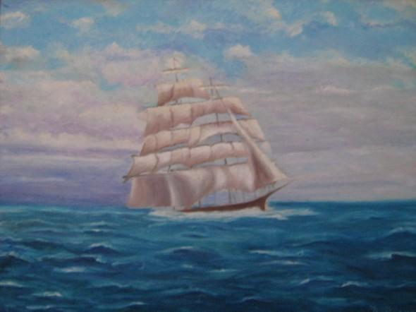 Barco después de la tempestad