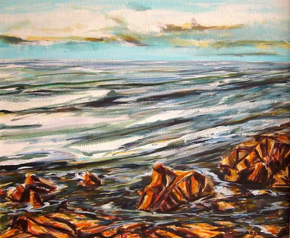 Una tarde frente al mar