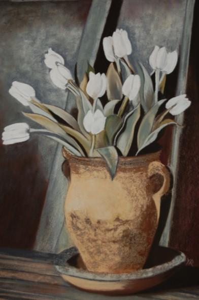 los tulipanes blancos