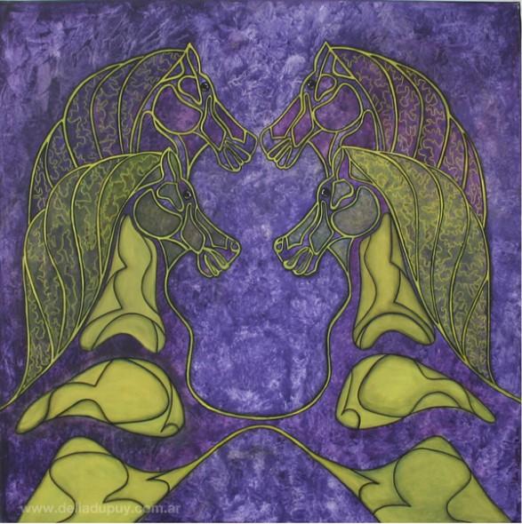 Equilibrio de una clonación en violeta