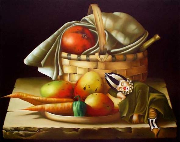 Bodegón con mangos VII