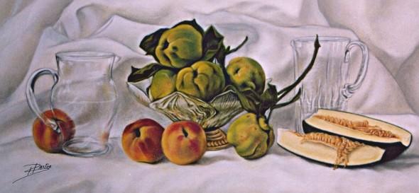 Bodegón con melón