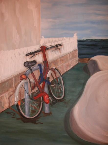 Mi bici en Cabo de Palos