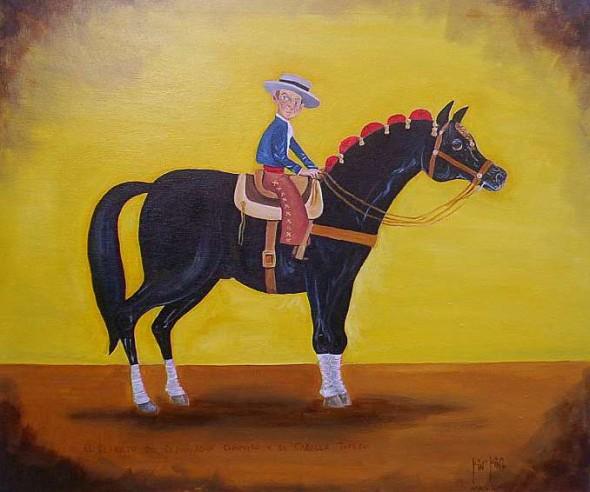 El Retrato del Rejoneador Chiquito y su Caballo Torero.