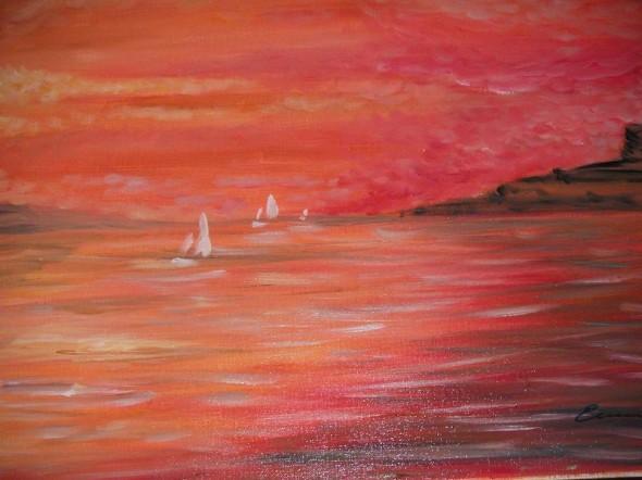 marina en rojo
