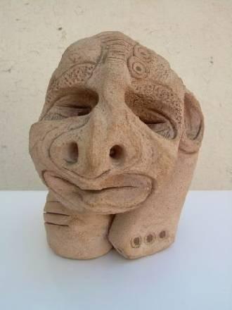 cabeza azteca