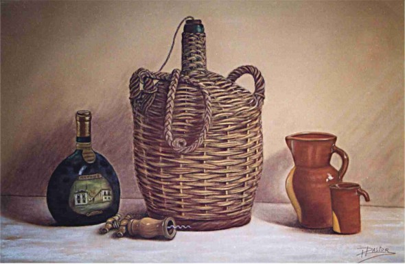bodegón con garrafa
