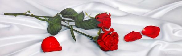 Paco yuste obra rosas sobre sabanas de seda - Sabanas de seda precio ...