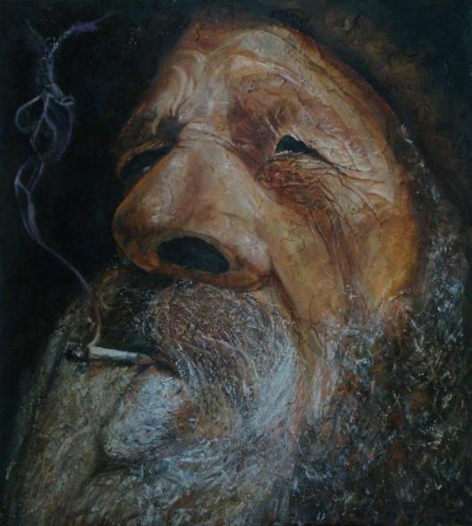 Fumando ...espero
