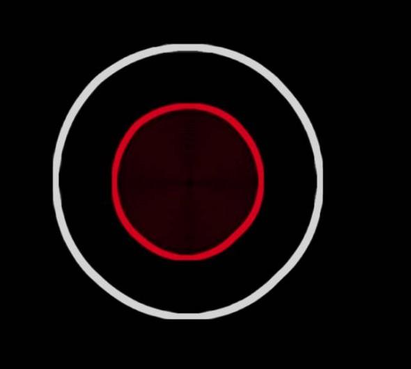 Circulo blanco dentro de rojo