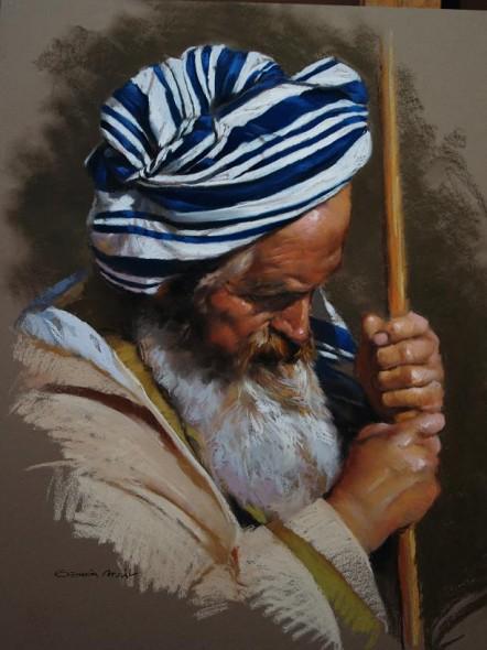 Viejo con baston