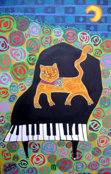 El gato en el piano