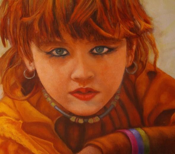 Retrato de una ninña pashto