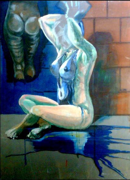 Desnudo Con pintura