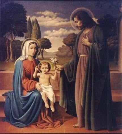 La Sagrada Familia (detalle central)