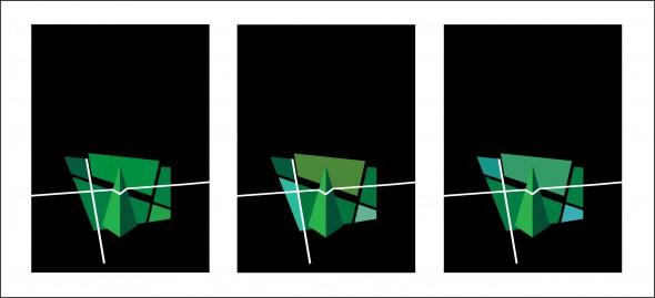 DesFragmentación - Serie Verde - Triptico -  Obra Nº 24