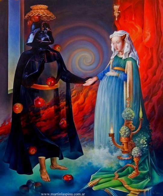 Naturaleza muerta con Dar Vader y la Señora Arnolfini