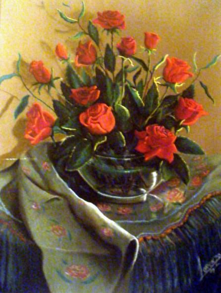Rosas con Manton