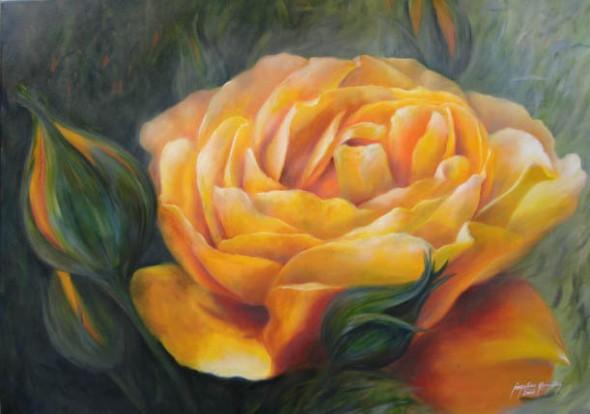 Rosa amarilla II